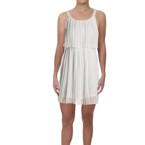 Womens Petites Knee-Length Pleated Party Dress